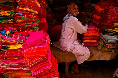 Fabric shop in a Jaipur Market