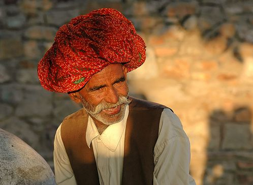 Rajasthani man with turban