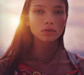 Girl at sunset for Hermes by Corrine Day