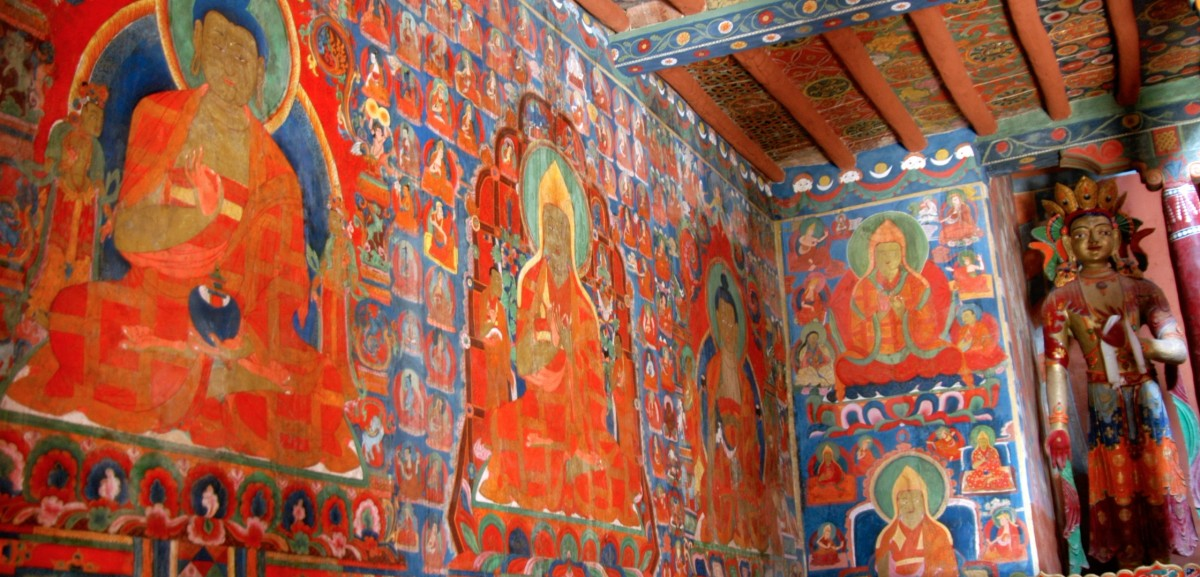 Monastery Interior in Ladakh